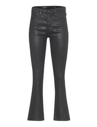 AG Jeans The Jodi Crop Leatherrette Super Black