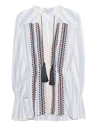 LUG VON SIGA Embroidery Blouse White Blue
