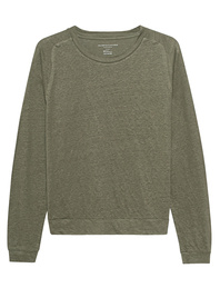 Majestic Filatures  Mottled Sweat Linen Khaki