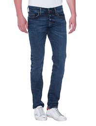 TRUE RELIGION Rocco Relaxed Skinny Blue Selvage