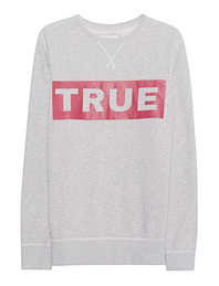 TRUE RELIGION Crew Sweat Grey Marl