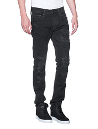 TRUE RELIGION Rocco Destroyed Black Denim