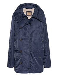 TRUE RELIGION Parka Fake Fur Night Blue
