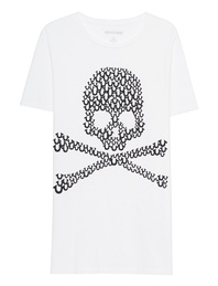 TRUE RELIGION Crew Skull White