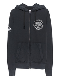 TRUE RELIGION Artwork Hooded Zip JKT Black