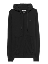 TRUE RELIGION Hooded Zip Gothic Black