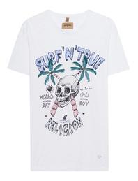 TRUE RELIGION Surf Skull White
