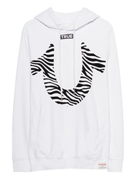 TRUE RELIGION Zebra Hood White