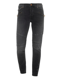 TRUE RELIGION Rocco Biker Relaxed Skinny Black