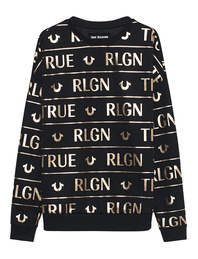 TRUE RELIGION Logo Gold Edition Black