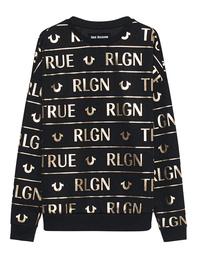 TRUE RELIGION Logo Gold Edition Black