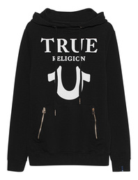 TRUE RELIGION Hoodie Puffy Black