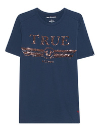 TRUE RELIGION Logo Glitter Navy