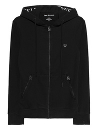 TRUE RELIGION Hoodie Zip Stripe Black