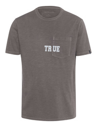 TRUE RELIGION  Pocket Logo Grey