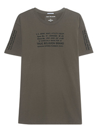 TRUE RELIGION Crewneck Shirt Military Olive