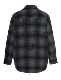 TRUE RELIGION Flannel Most Wanted Checked Black