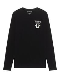 TRUE RELIGION Logo Back Black