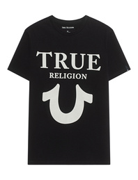TRUE RELIGION Big Horseshoe Crew Neck Black