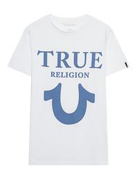 TRUE RELIGION Big Horseshoe Crew Neck White