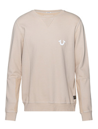 TRUE RELIGION Reflective Logo Beige