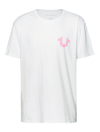 TRUE RELIGION Horseshoe Pink White