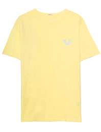 TRUE RELIGION Organic Cotton Logo Yellow