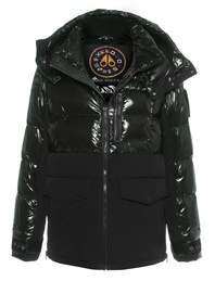 MOOSE KNUCKLES Puffer Mixed Olive
