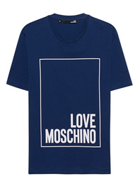 LOVE Moschino Logo Print Blue