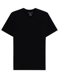 Majestic Filatures  Vneck Deluxe Cotton Black