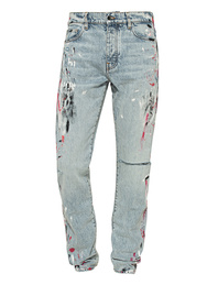 Amiri Straight Fit Painter Washed Out Blue