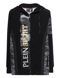 Plein Sport Sweatjacket Silver Black