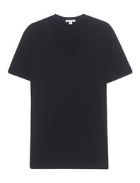 JAMES PERSE Short Sleeve V-Neck Black