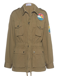 RED VALENTINO Parka Patch Khaki
