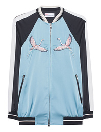 RED VALENTINO Bomber Birds Blue