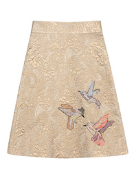 RED VALENTINO Jacquard Birds Gold