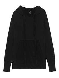THOM KROM Oversize Basic Hood Black