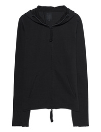 THOM KROM Zip Up Hoodie Rib Black