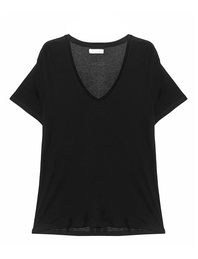 ANINE BING Deep V-Neck Black