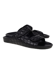 PIANO ZERO Quilted Sandals Black