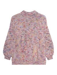 FINE EDGE Round Neck Knit Multicolor