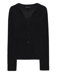 HANNES ROETHER Nestor Cardigan Dinner Black