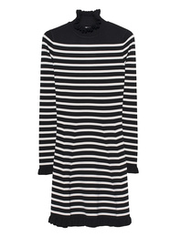 RED VALENTINO Stripes Ruffle Black Creme