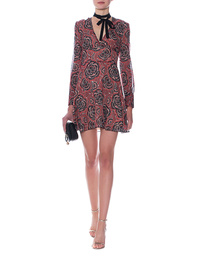 RED VALENTINO Pattern Silk Red Black