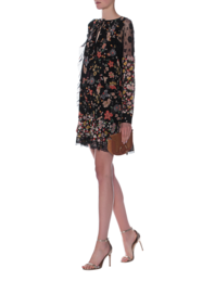 RED VALENTINO Lace And Flowers Black