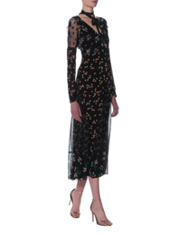 RED VALENTINO Lace And Flowers Long Black