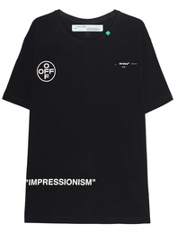 OFF-WHITE C/O VIRGIL ABLOH Stencil Over Tee Black
