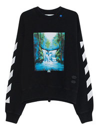 OFF-WHITE C/O VIRGIL ABLOH Waterfall Oversized Sweater Black