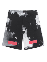 OFF-WHITE C/O VIRGIL ABLOH White Liquid Spots Shorts All Over Black