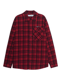 OFF-WHITE C/O VIRGIL ABLOH Flannel Check Red